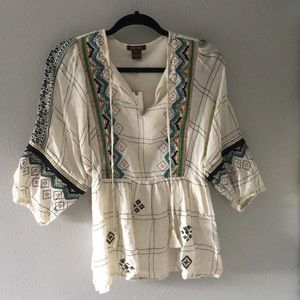 Anthropology Peasant Top sz XS